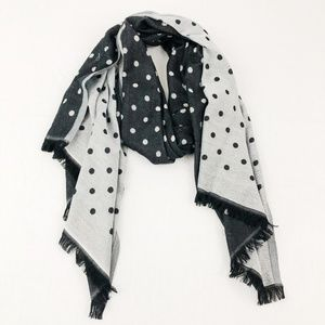 Black & Gray Polka Dot Scarf